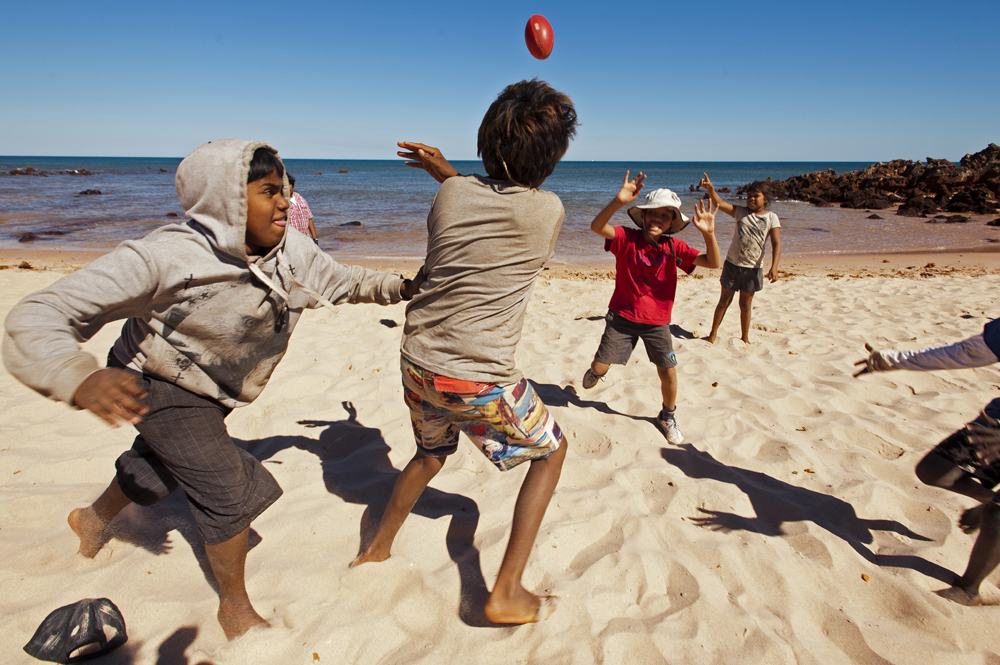 IMG-145.Lurujarri Heritage Trail.WA.kids playing footie.Quondong Point