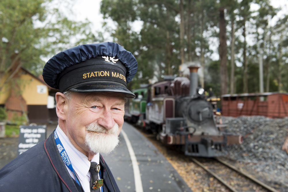 IMG-171.Dandenong Ranges.VIC.Puffin Billy.stationmaster Peter Stowell